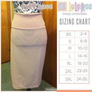 LuLaRoe XL Beige Cassie Pencil Skirt